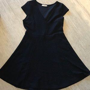 Elodie Black Skater textured Dress Size XL